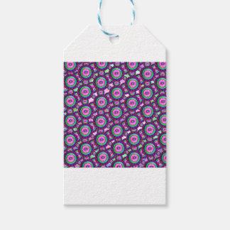 紫色の円 ギフトタグ