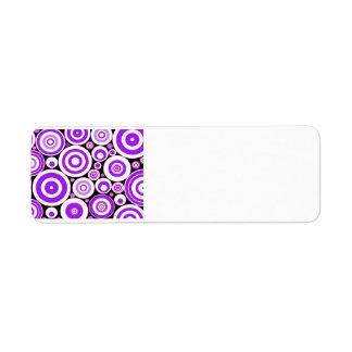 紫色の円 ラベル