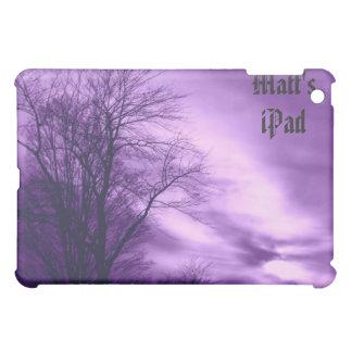 紫色の冬の木そして空はiPadの場合をカスタマイズ iPad Miniカバー