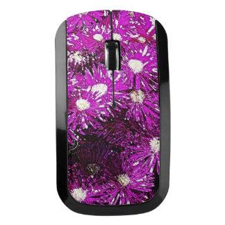 紫色の凍嚢の抽象芸術 ワイヤレスマウス