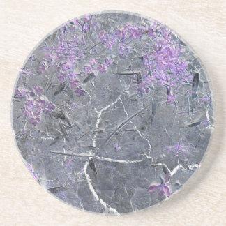 紫色の割れた地球のコースター コースター