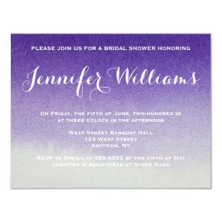 紫色の勾配のグラデーションなブライダルシャワー招待状 カード