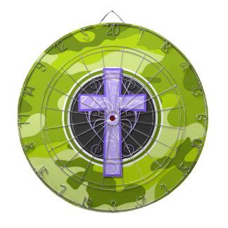 紫色の十字; 若草色の迷彩柄、カムフラージュ ダーツボード