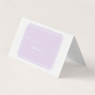 紫色の単にエレガントな座席表 プレイスカード