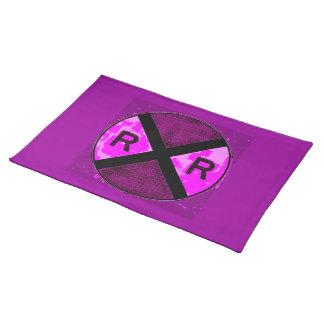 紫色の印のランチョンマット ランチョンマット