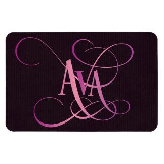 紫色の原稿のAvaの名前入りで渦巻形のなピンク マグネット