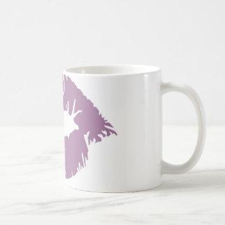 紫色の口紅 コーヒーマグカップ
