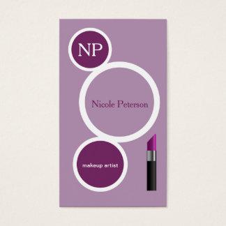 紫色の口紅 名刺