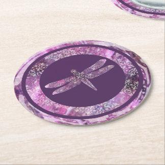 紫色の古さび: トンボ ラウンドペーパーコースター