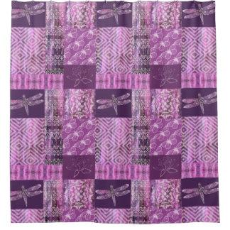紫色の古さび: モザイク シャワーカーテン