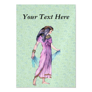 紫色の古代かわいらしいエジプトの女性王女 マグネットカード