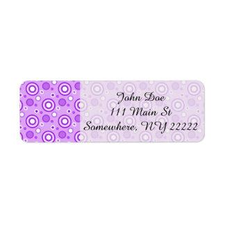 紫色の同心円 ラベル
