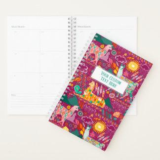 紫色の名前入りなプランナーのラマ プランナー手帳