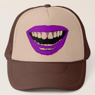 紫色の唇 キャップ