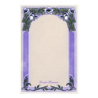 紫色の喜び- Decoの文房具 便箋