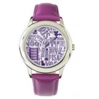 紫色の地下鉄都市腕時計 腕時計