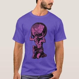 紫色の地図書のギリシャ神話のTシャツ Tシャツ