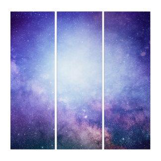 紫色の地獄の宇宙のオデュッセイアの宇宙のアクリルのトリプティク トリプティカ