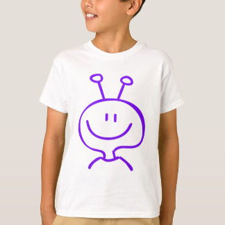 紫色の外国の男の子の漫画 Tシャツ