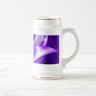 紫色の夢、抽象的なファンタジーの虹芸術 ビールジョッキ