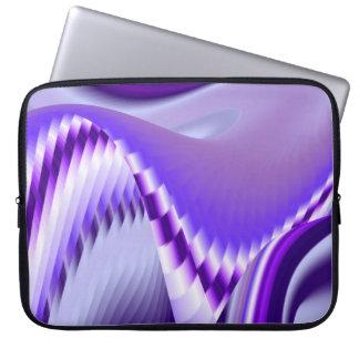 紫色の夢、抽象的なファンタジーの虹芸術 ラップトップスリーブ