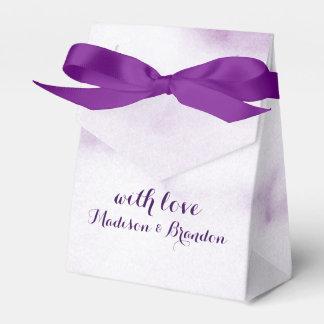 紫色の大理石のギフト用の箱 フェイバーボックス