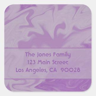 紫色の大理石のデザイン スクエアシール