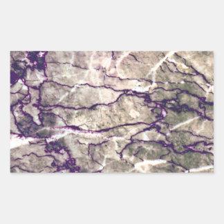 紫色の大理石の石 長方形シール