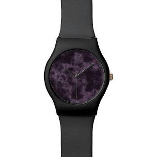 紫色の大理石の質 腕時計