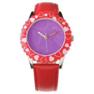 紫色の大理石 腕時計