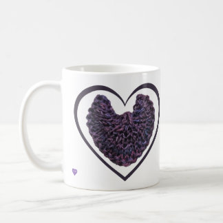 紫色の天使によっては左利きのマグが飛びます コーヒーマグカップ