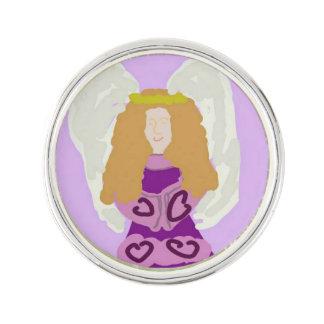 紫色の天使のラペルピン ラペルピン