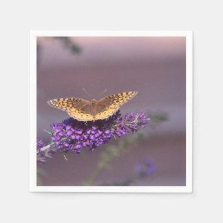 紫色の天国の蝶ナプキン スタンダードカクテルナプキン