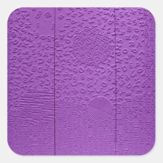 紫色の失語症 スクエアシール