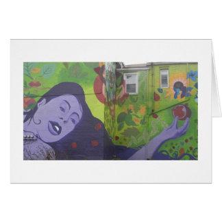 紫色の女性の壁画 カード