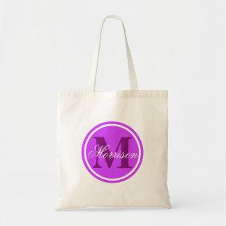 紫色の威信のモノグラム トートバッグ