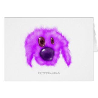 紫色の子犬の生き物 カード