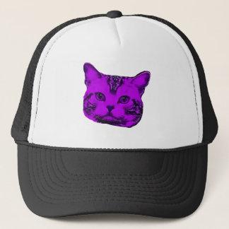 紫色の子猫 キャップ