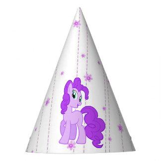 紫色の子馬のかわいい女の子の誕生日の帽子 パーティーハット