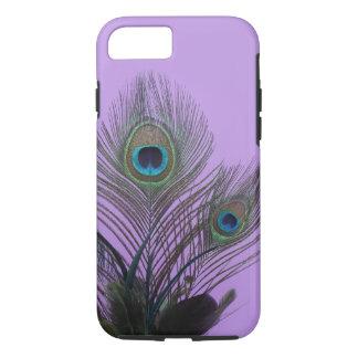 紫色の孔雀の羽のiPhone 7の箱 iPhone 8/7ケース