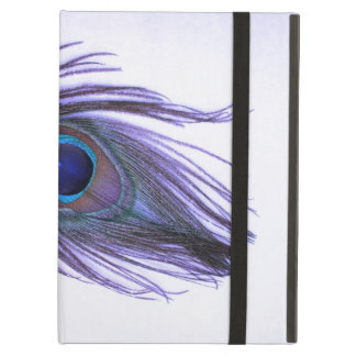 紫色の孔雀の羽のPowisのiPadの箱 iPad Airケース