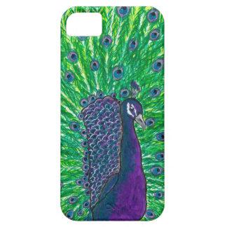 紫色の孔雀のiphone 5の箱 iPhone SE/5/5s ケース