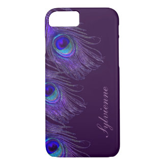 紫色の孔雀のiPhone 7の箱 iPhone 8/7ケース
