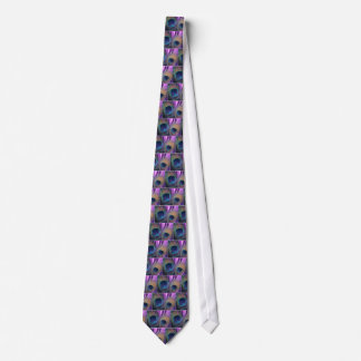 紫色の孔雀 オリジナルネクタイ