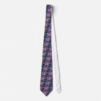 紫色の孔雀 ネクタイ