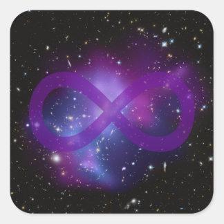 紫色の宇宙のイメージ 正方形シール