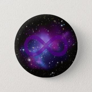 紫色の宇宙のイメージ 5.7CM 丸型バッジ