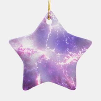 紫色の宇宙稲妻の芸術 セラミックオーナメント