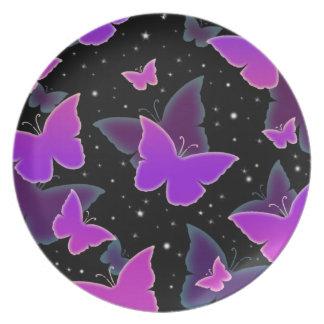 紫色の宇宙蝶 プレート