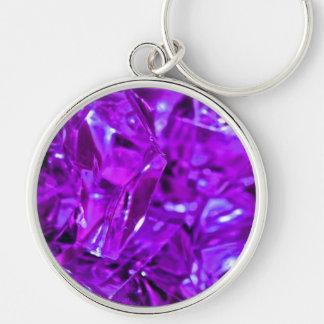 紫色の宝石用原石の水晶のアメジスト キーホルダー